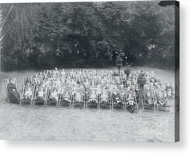 People Acrylic Print featuring the photograph Ill Children Resting At Camp by Bettmann