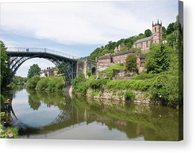 Arch Acrylic Print featuring the photograph Ironbridge In Telford by Dageldog