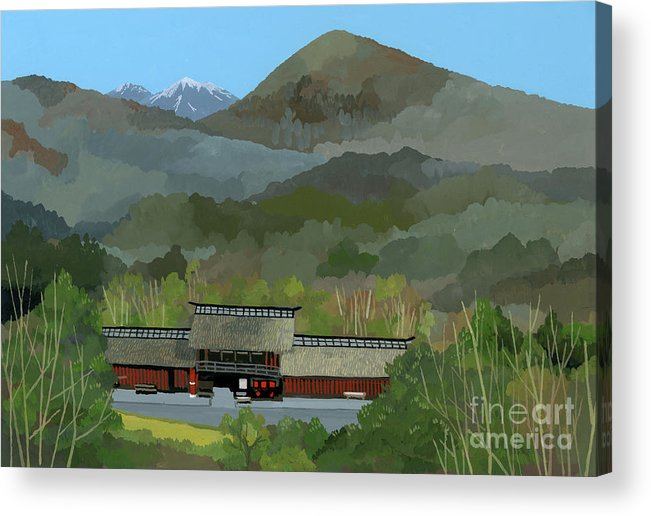Japanese Countryside Acrylic Print featuring the painting Japanese Countryside by Hiroyuki Izutsu