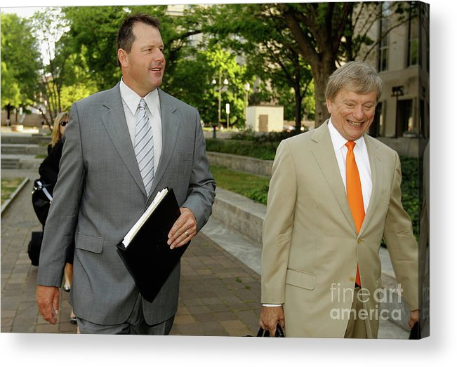 Lawyer Acrylic Print featuring the photograph Jury Selection Begins In Roger Clemens by Chip Somodevilla