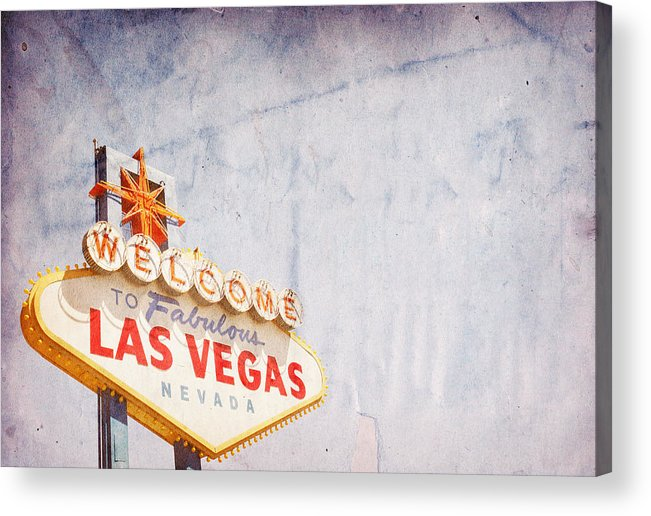Outdoors Acrylic Print featuring the photograph Las Vegas Sign by Nic Taylor