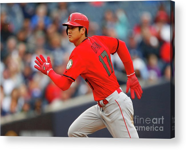 Three Quarter Length Acrylic Print featuring the photograph Los Angeles Angels Of Anaheim V New by Jim Mcisaac