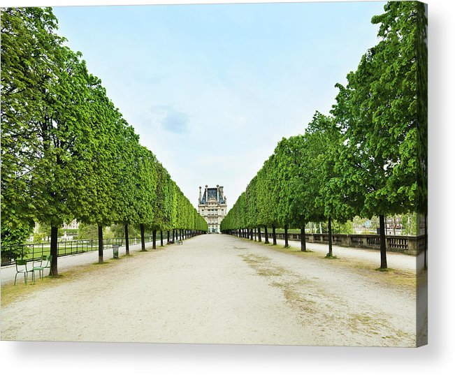 Scenics Acrylic Print featuring the photograph Louvre In Paris by Nikada