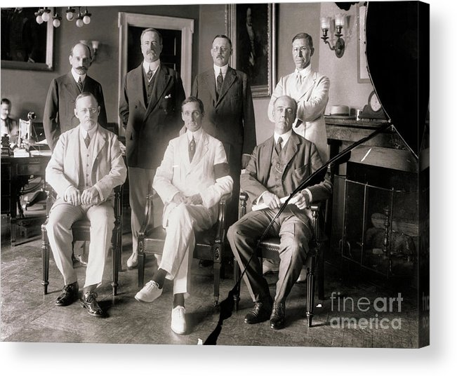 Central Bank Acrylic Print featuring the photograph Members Of Federal Reserve Board by Bettmann