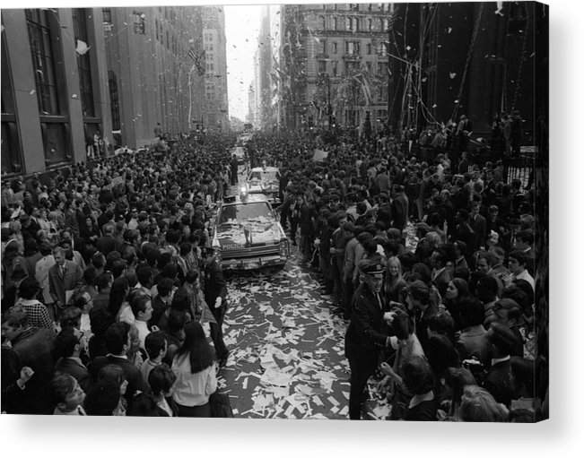 People Acrylic Print featuring the photograph Mets Ticker Tape Parade by Fred W. McDarrah