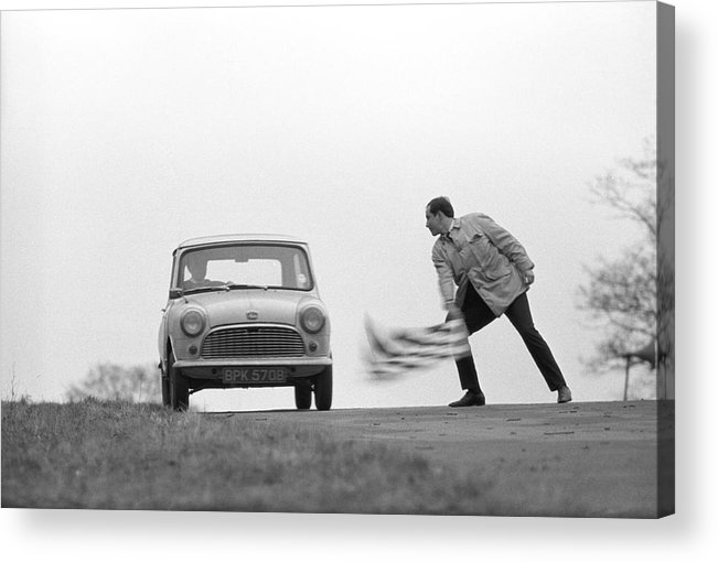 People Acrylic Print featuring the photograph Mini Rally by Bert Hardy Advertising Archive