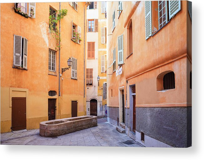 Orange Color Acrylic Print featuring the photograph Old Town Of Nice, French Riviera, France by Aprott