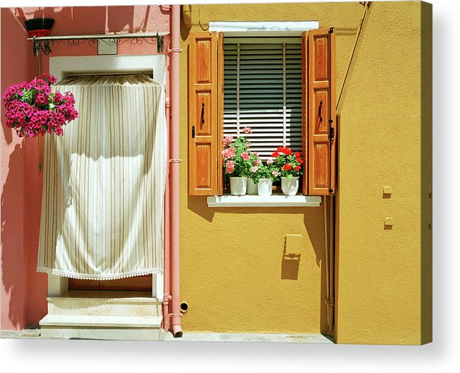 Hanging Acrylic Print featuring the photograph Painted House In Burano by Terraxplorer