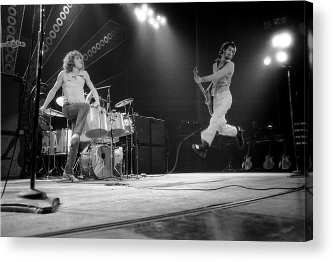 Music Acrylic Print featuring the photograph Photo Of Pete Townshend And Roger by David Redfern