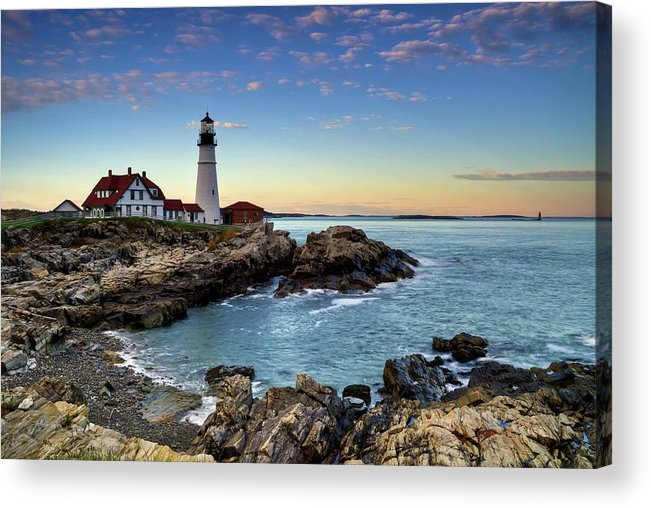 Tranquility Acrylic Print featuring the photograph Portland Head Lighthouse by Www.ferpectshotz.com