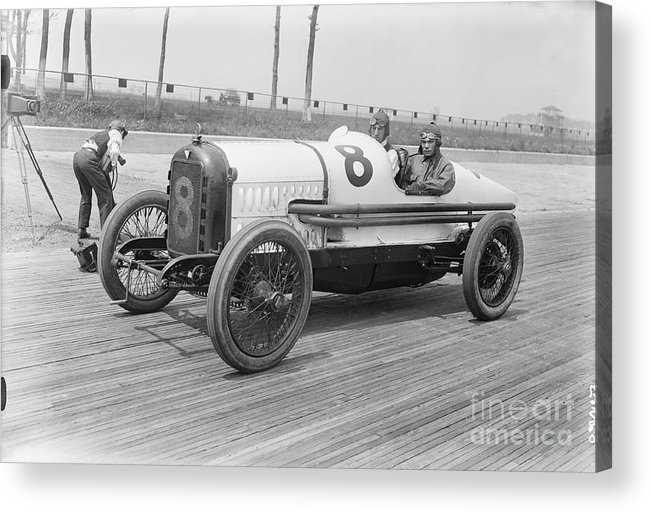 People Acrylic Print featuring the photograph Racecar At Sheepshead Bay Track by Bettmann