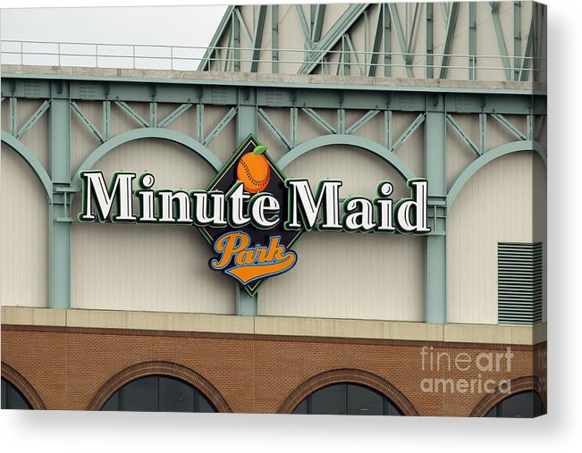 Minute Maid Park Acrylic Print featuring the photograph Rockies V Astros by Ronald Martinez