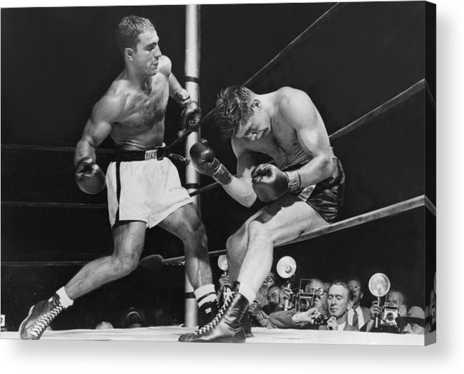 People Acrylic Print featuring the photograph Rocky Marciano by Keystone