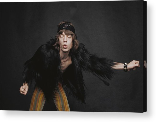 Mick Jagger Acrylic Print featuring the photograph Rolling Stones Singer by Michael Ochs Archives
