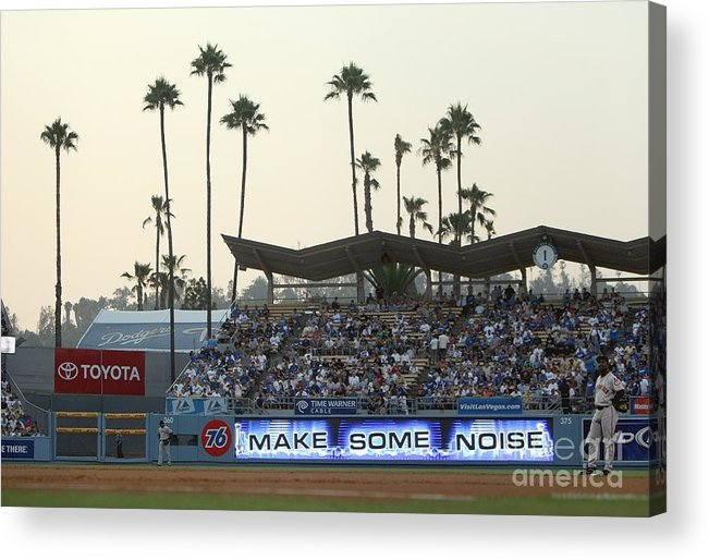California Acrylic Print featuring the photograph San Francisco Giants V Los Angeles by Jed Jacobsohn