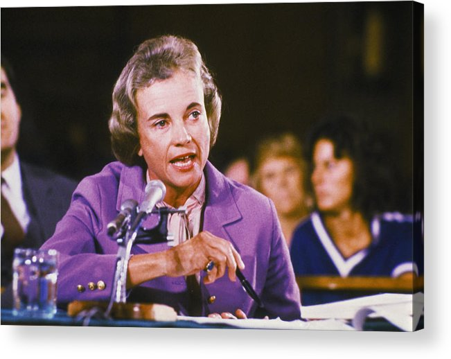 1980-1989 Acrylic Print featuring the photograph Sandra Day Oconnor by Keystone