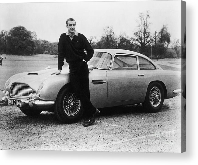 People Acrylic Print featuring the photograph Sean Connery With 007s Aston Martin by Bettmann