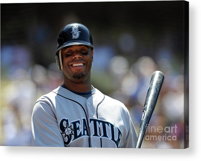 People Acrylic Print featuring the photograph Seattle Mariners V Los Angeles Dodgers by Lisa Blumenfeld