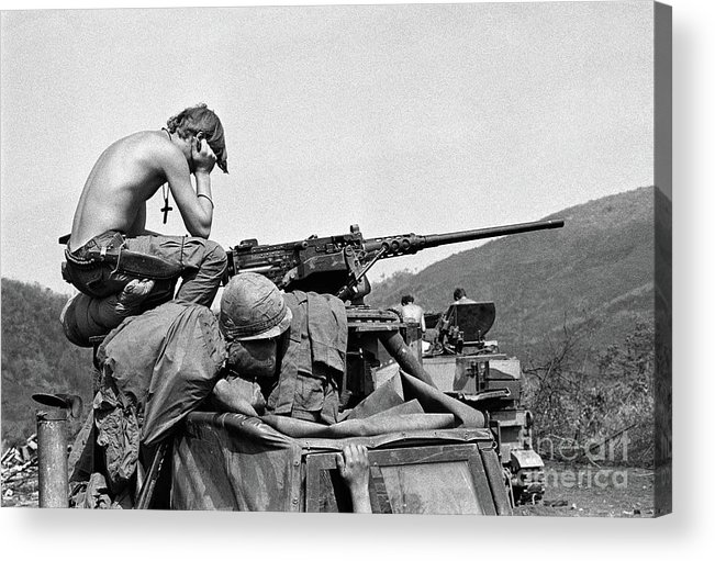 Vietnam War Acrylic Print featuring the photograph Soldier On Easter Sunday by Bettmann