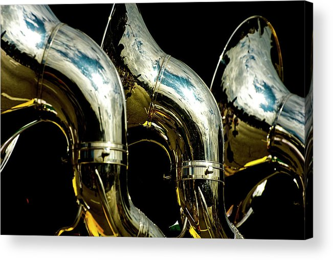 Music Acrylic Print featuring the photograph Souzaphones On Parade by By Ken Ilio