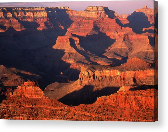 Toughness Acrylic Print featuring the photograph Sunset Over Grand Canyon by By Tiina Gill