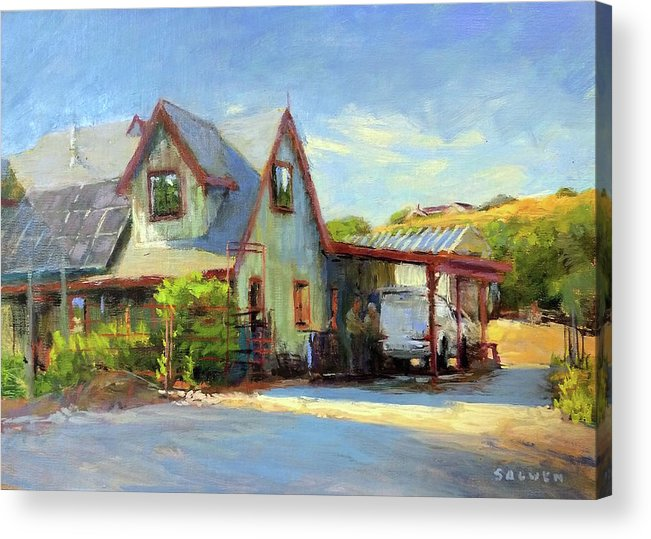 California Acrylic Print featuring the painting The Doctor Is In by Peter Salwen