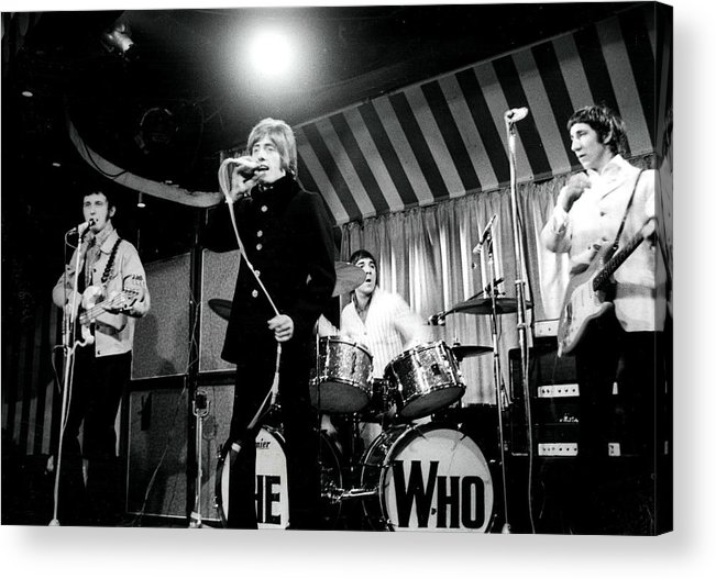 Singer Acrylic Print featuring the photograph The Who by Paul Popper/popperfoto