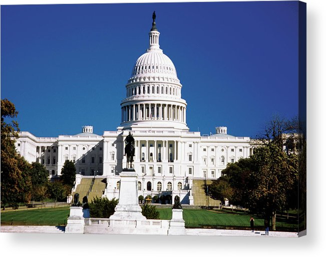 Statue Acrylic Print featuring the photograph U.s. Capitol Building In Washington by Medioimages/photodisc