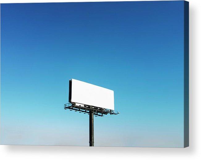 North Carolina Acrylic Print featuring the photograph Usa, North Carolina, Billboard Under by Tetra Images
