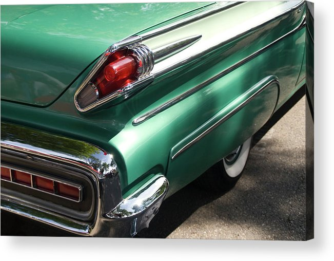 Cool Attitude Acrylic Print featuring the photograph Vintage Tail Fin by Sstop