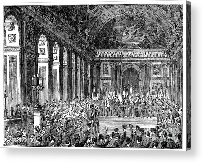 Event Acrylic Print featuring the drawing Wilhelm I Becoming Emperor Of Germany by Print Collector