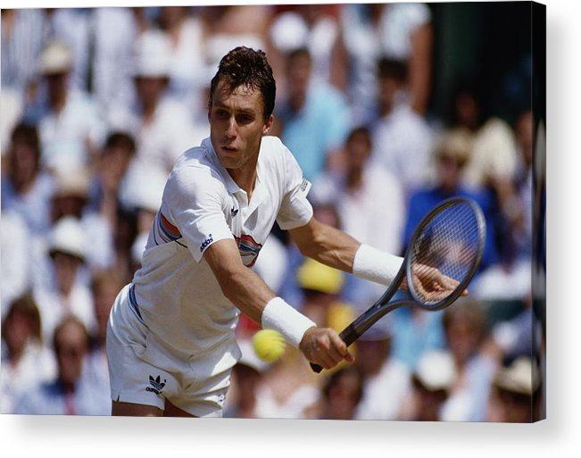 1980-1989 Acrylic Print featuring the photograph Wimbledon Lawn Tennis Championship by Getty Images