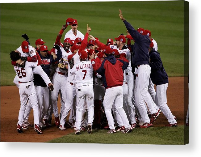 St. Louis Cardinals Acrylic Print featuring the photograph World Series Game 5 Detroit Tigers V by Elsa