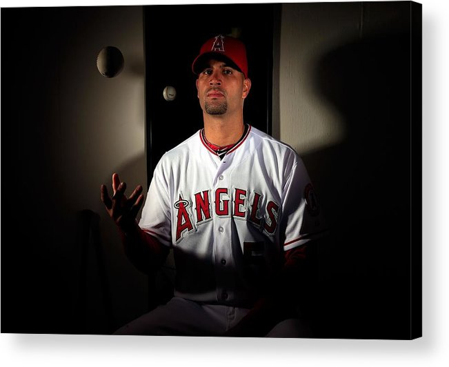 Media Day Acrylic Print featuring the photograph Albert Pujols by Jamie Squire