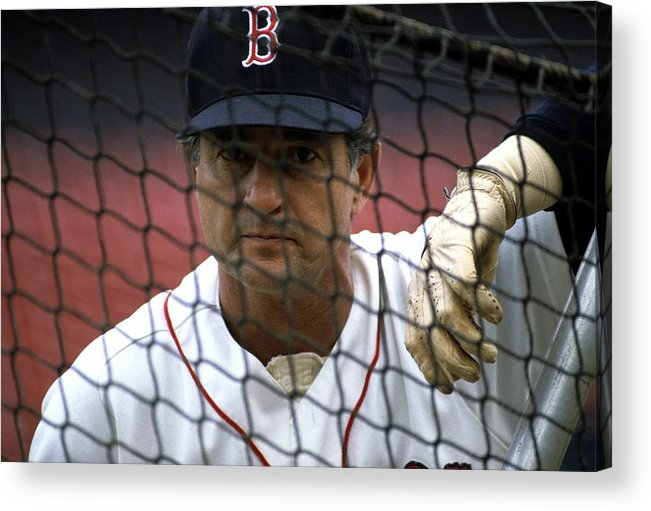 1980-1989 Acrylic Print featuring the photograph Carl Yastrzemski by Ronald C. Modra/sports Imagery