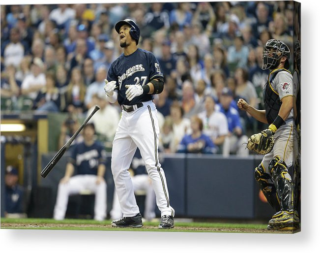 American League Baseball Acrylic Print featuring the photograph Carlos Gomez by Jeffrey Phelps