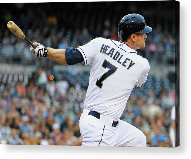 California Acrylic Print featuring the photograph Chase Headley by Denis Poroy