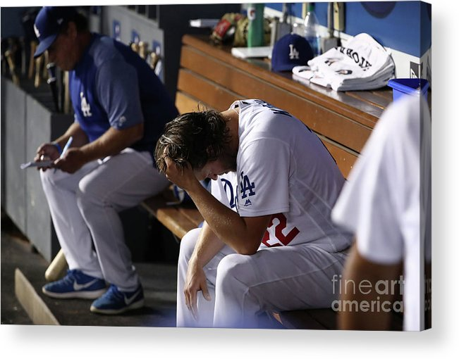 People Acrylic Print featuring the photograph Clayton Kershaw by Victor Decolongon