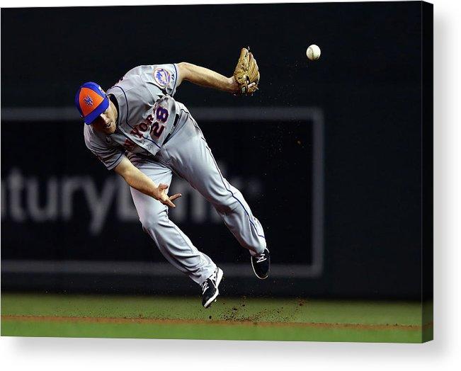 American League Baseball Acrylic Print featuring the photograph Daniel Murphy by Elsa