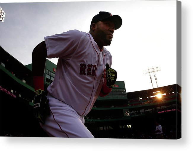American League Baseball Acrylic Print featuring the photograph David Ortiz by Jared Wickerham