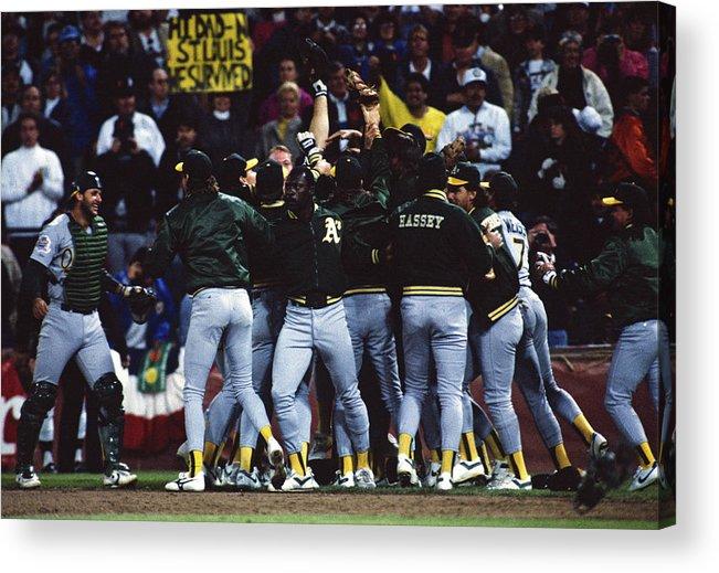 Candlestick Park Acrylic Print featuring the photograph Dennis Eckersley by Mlb Photos