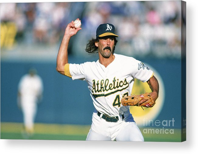1980-1989 Acrylic Print featuring the photograph Dennis Eckersley by Ron Vesely