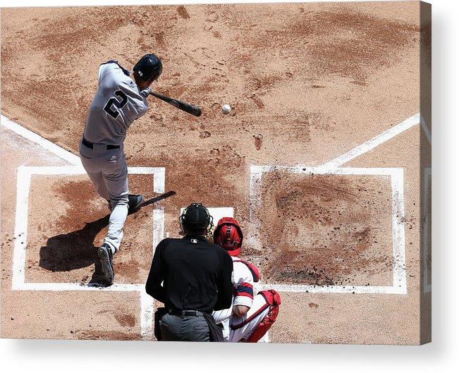 American League Baseball Acrylic Print featuring the photograph Derek Jeter by Jonathan Daniel
