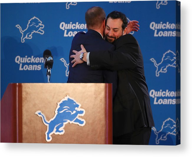 People Acrylic Print featuring the photograph Detroit Lions Introduce Matt Patricia by Gregory Shamus