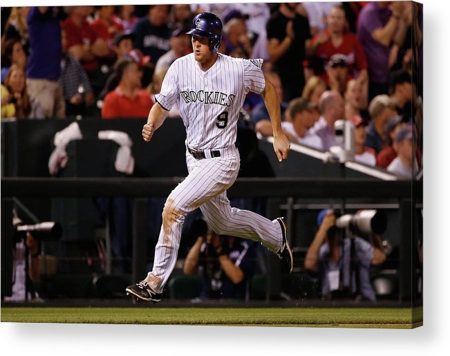 People Acrylic Print featuring the photograph Dj Lemahieu, Carlos Gonzalez, and Randy Choate by Doug Pensinger