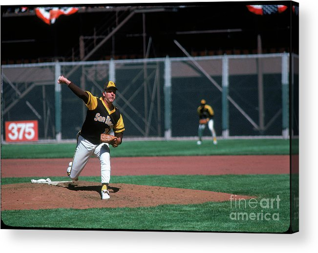 Baseball Pitcher Acrylic Print featuring the photograph Gaylord Perry by Michael Zagaris