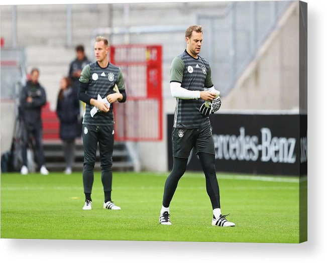 Event Acrylic Print featuring the photograph Germany - Training & Press Conference by Martin Rose