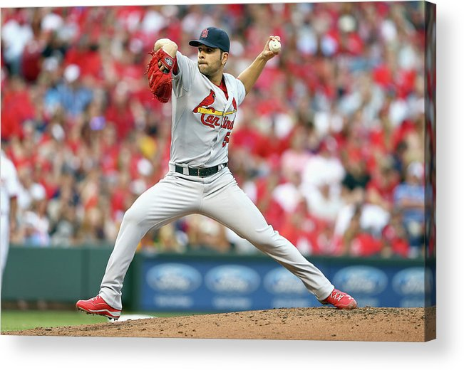 Great American Ball Park Acrylic Print featuring the photograph Jaime Garcia by Andy Lyons