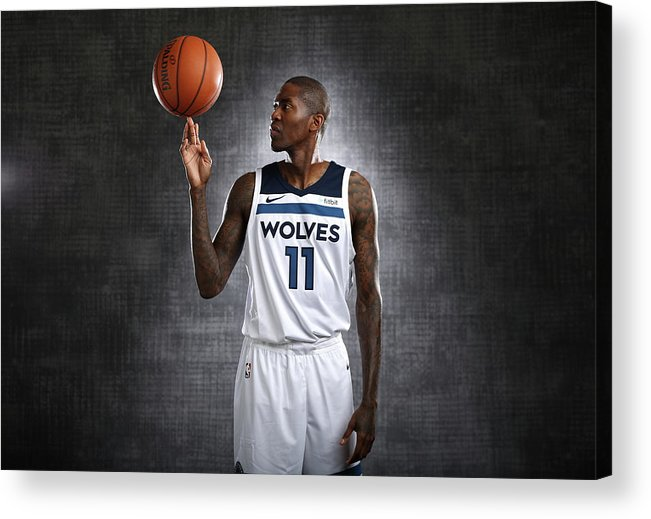 Media Day Acrylic Print featuring the photograph Jamal Crawford by David Sherman