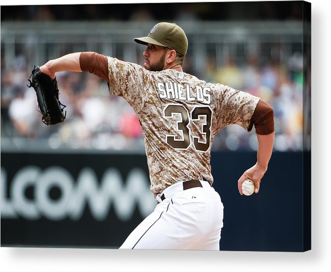 Second Inning Acrylic Print featuring the photograph James Shields by Denis Poroy